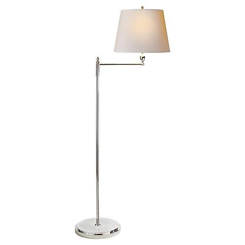Paulo Floor Lamp, Polished Nickel
