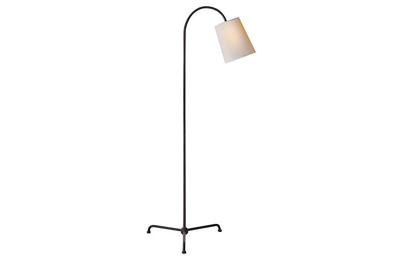 Mia Floor Lamp, Aged Iron