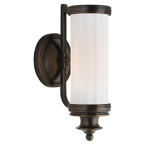 Milton Road Sconce, Bronze