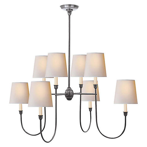 Vendome Chandelier, Antiqued Silver