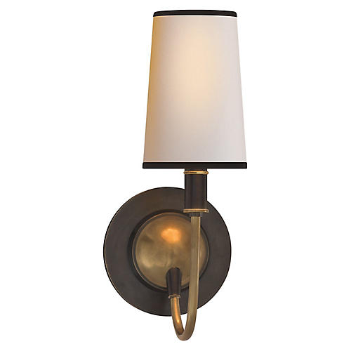 Elkins Sconce, Bronze/Brass