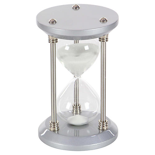 "9"" Morton 30-Minute Hourglass, Gray/Silver"