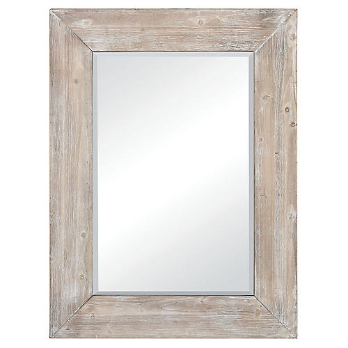 Lerner Wall Mirror, Whitewash