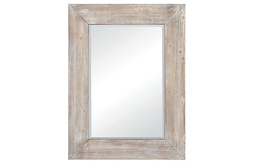 Lerner Wall Mirror, Whitewash