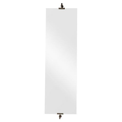 Ashlar Wall Mirror, Silver