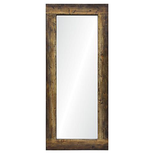Oxford Floor Mirror, Brown