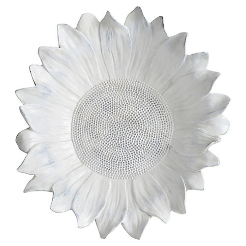 Daisy Wall Decor, Whitewash