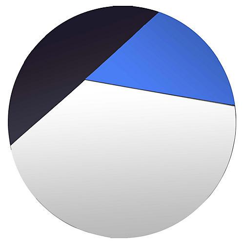 Exmoor Wall Mirror, Black/Blue