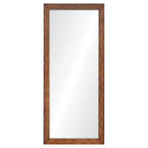 Mescall Floor Mirror, Dark Chestnut/Silver