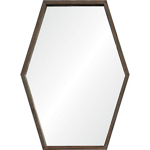 Movi Wall Mirror, Aged Chestnut