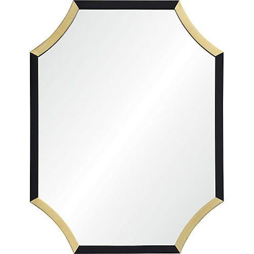 Harlowe Wall Mirror, Black/Gold