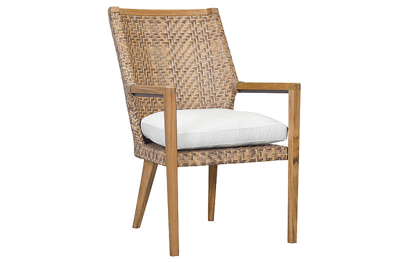 Cote d'Azur Armchair, Natural/Taupe