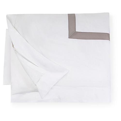 Orlo Duvet Cover, White/Gray