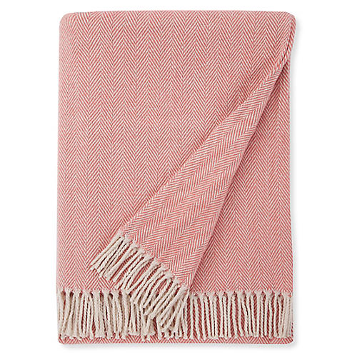 Celine Cotton Throw, Salmon