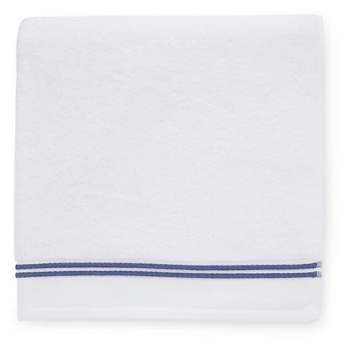 Aura Washcloth, White/Navy