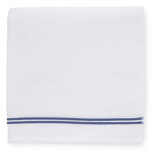 Aura Washcloth, White/Navy