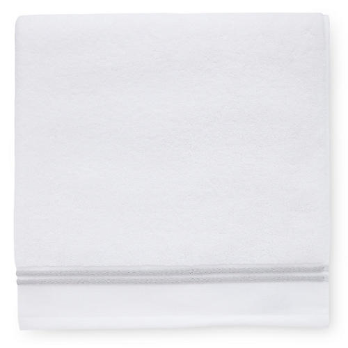 Aura Hand Towel, White/Gray