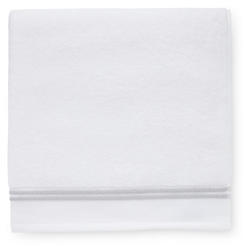 Aura Bath Towel, White/Gray