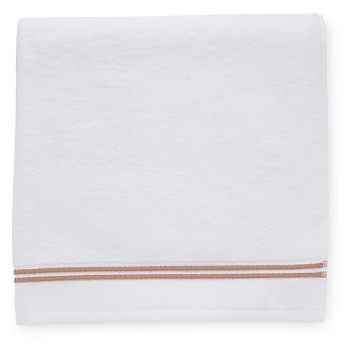 Aura Bath Towel, White/Copper