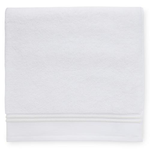 Aura Bath Sheet, White/Ivory