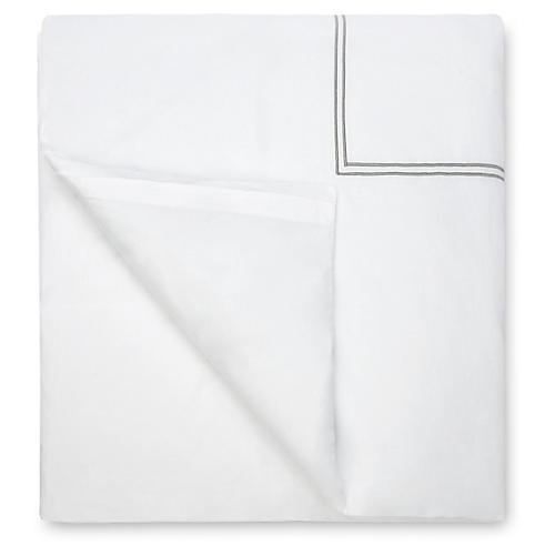 Grande Hotel Duvet Cover, White/Silver