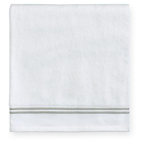 Aura Washcloth, White/Celadon