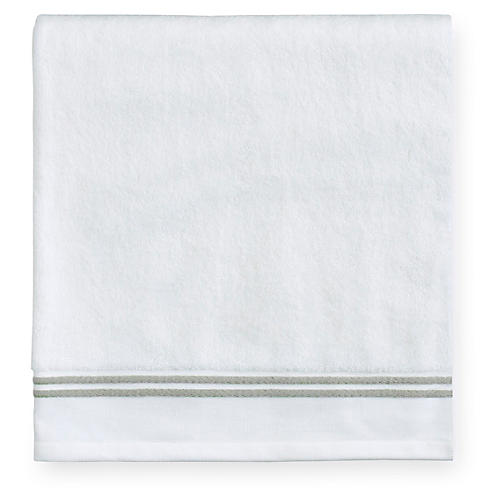 Aura Washcloth, White/Celadon