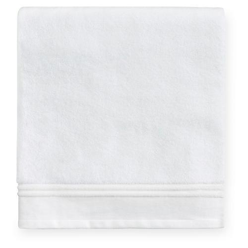 Aura Bath Towel, White