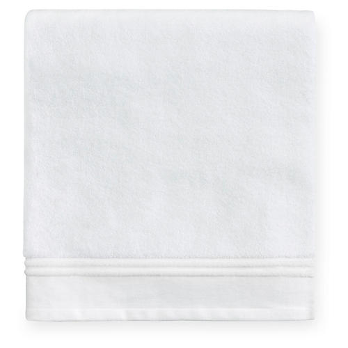Aura Bath Towel, White