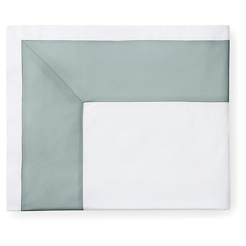 Casida Flat Sheet, White/Seagreen