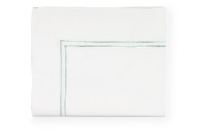 Grande Hotel Flat Sheet, White/Mist