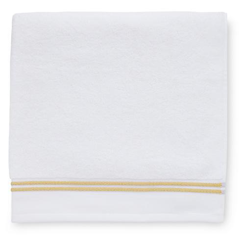 Aura Bath Sheet, White/Corn