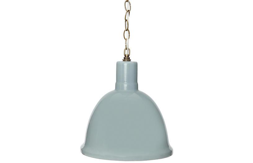 Malibu Hanging Pendant, Smoke Blue