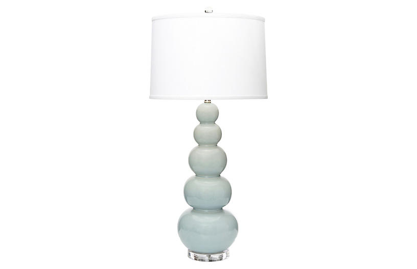 Trousdale Table Lamp, Pale Blue
