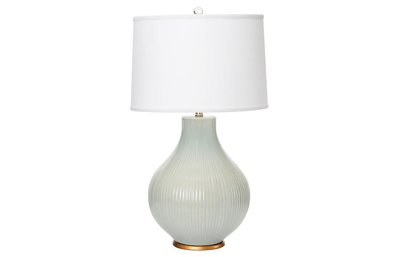 Santa Barbara Table Lamp, Pale Blue