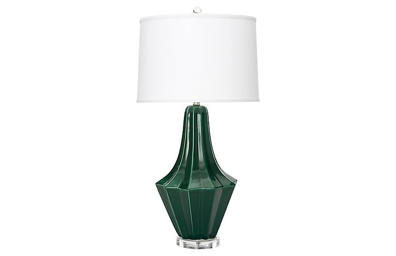 Melrose Table Lamp, Emerald