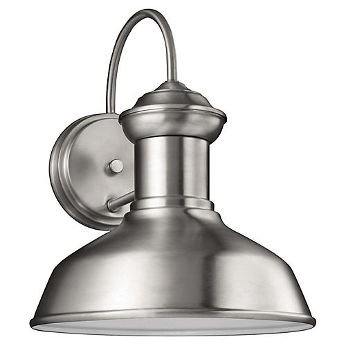 Fredericksburg Small Outdoor Sconce, Satin Aluminum
