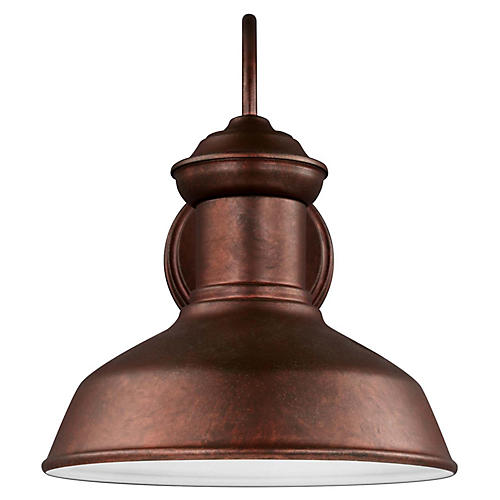 Fredericksburg Small Outdoor Sconce, Copper