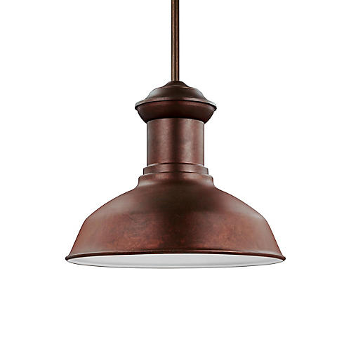 Fredericksburg Outdoor Pendant, Weathered Copper