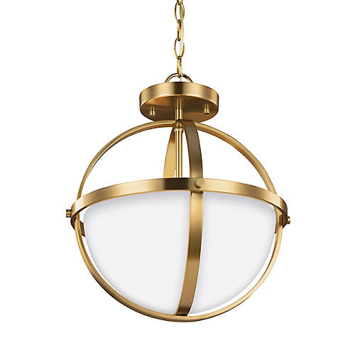 Alturas Convertible Semi-Flush Mount, Satin Bronze
