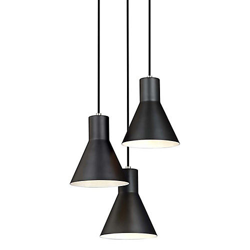 Towner 3-Light Pendant, Brushed Nickel