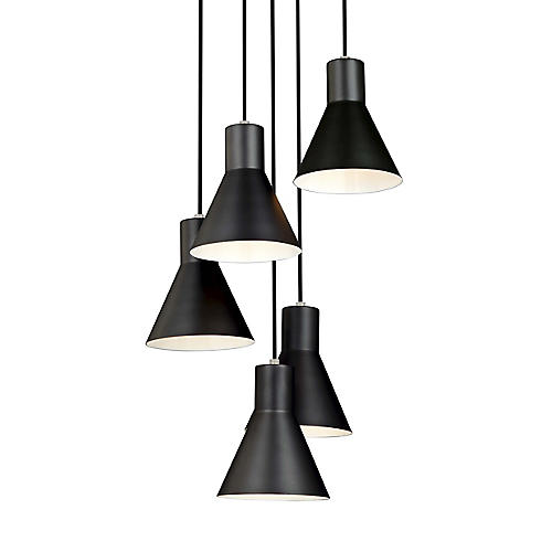 Towner 5-Light Pendant, Brushed Nickel