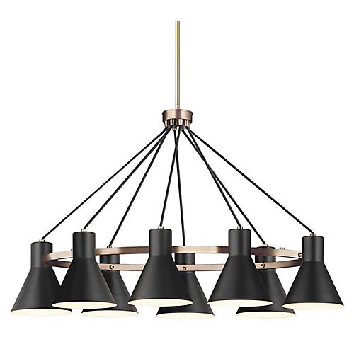 Towner 8-Light Chandelier, Satin Bronze