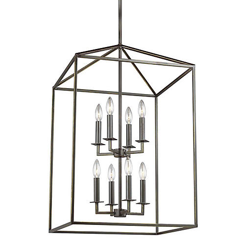 Perryton 8-Light Lantern, Heirloom Bronze