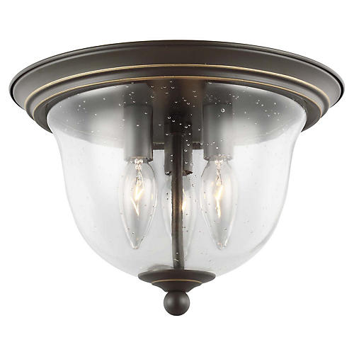 Belton 3-Light Flush Mount, Heirloom Bronze