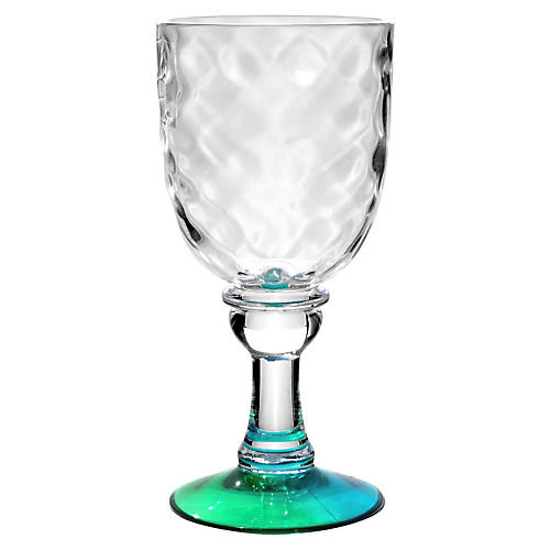 S/6 Rae Wineglasses, Turquoise