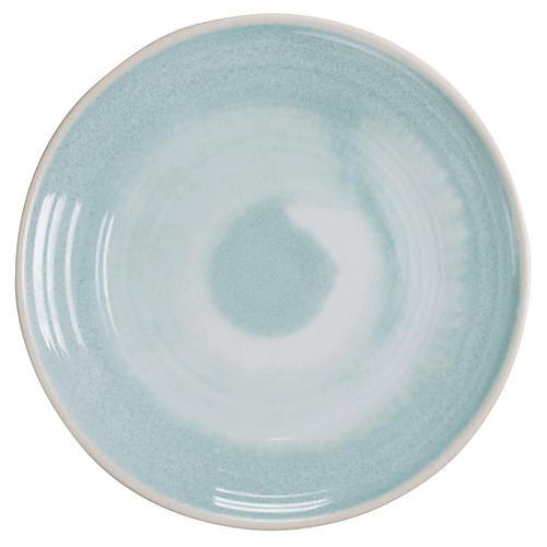 S/6 Duval Dinner Plates, Aqua