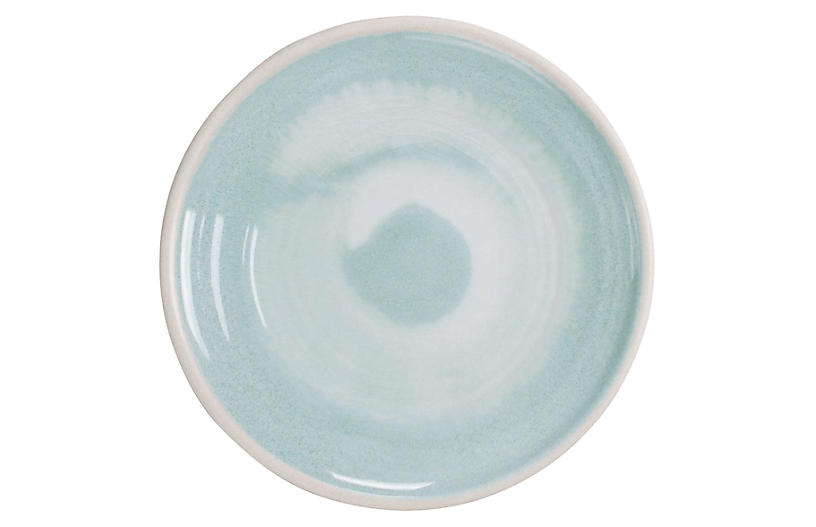 S/6 Duval Salad Plates, Aqua