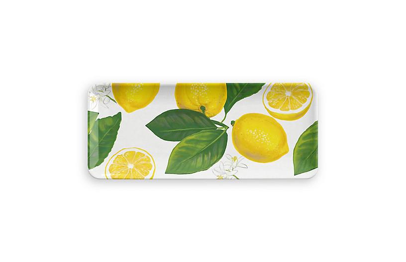 Lemon-Fresh Melamine Appetizer Tray, Multi
