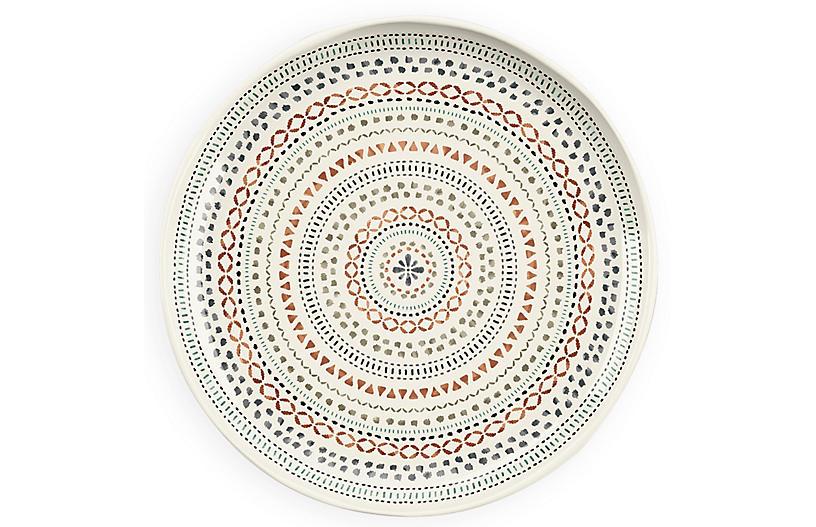 S/6 Planta Matte Desert Mandala Plate, Multi